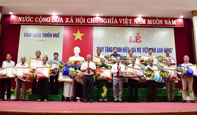 Thừa Thiên Huế: Truy tặng danh hiệu Bà mẹ Việt Nam Anh hùng